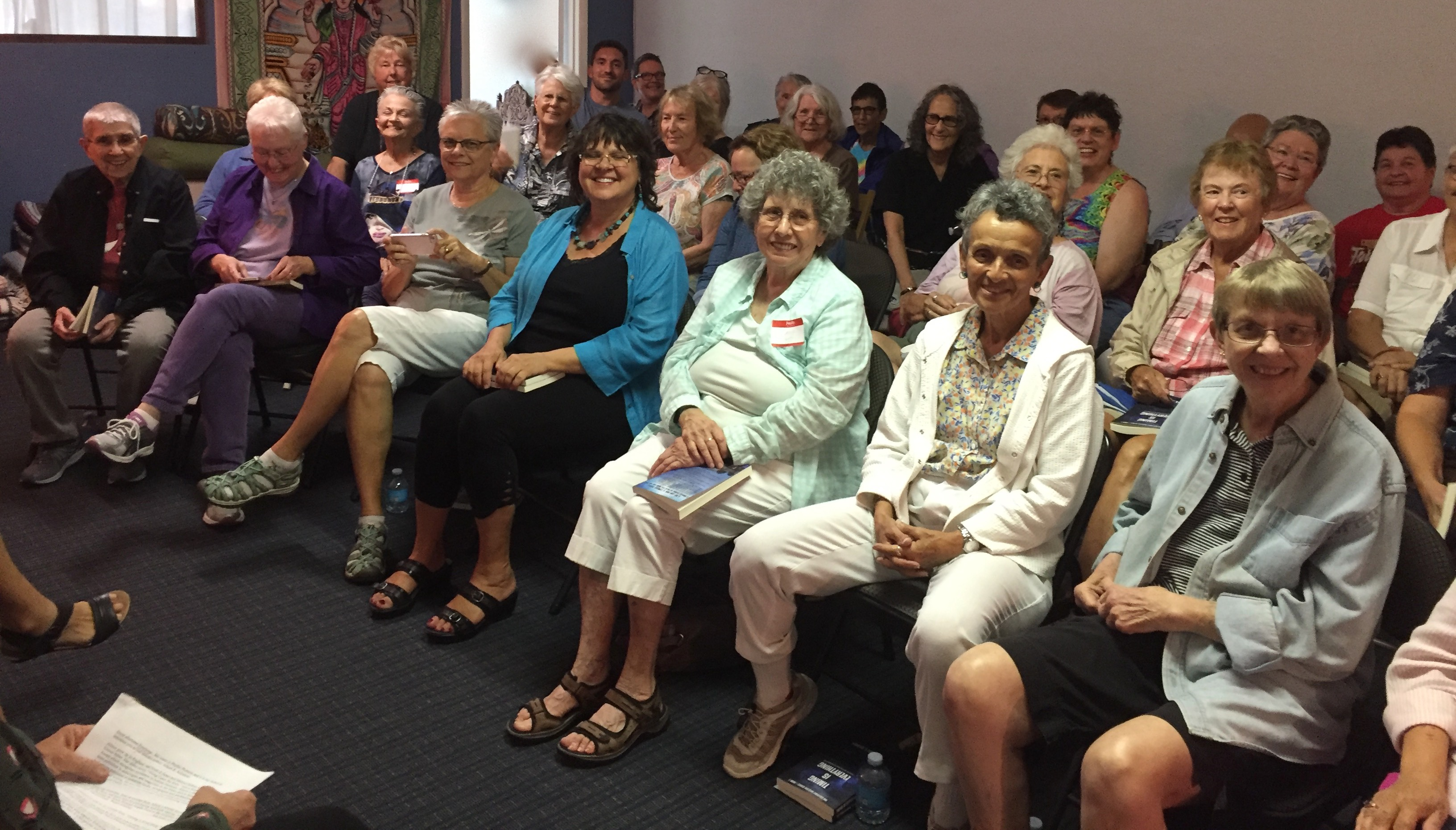 Audience at book reading for Timing is Everything