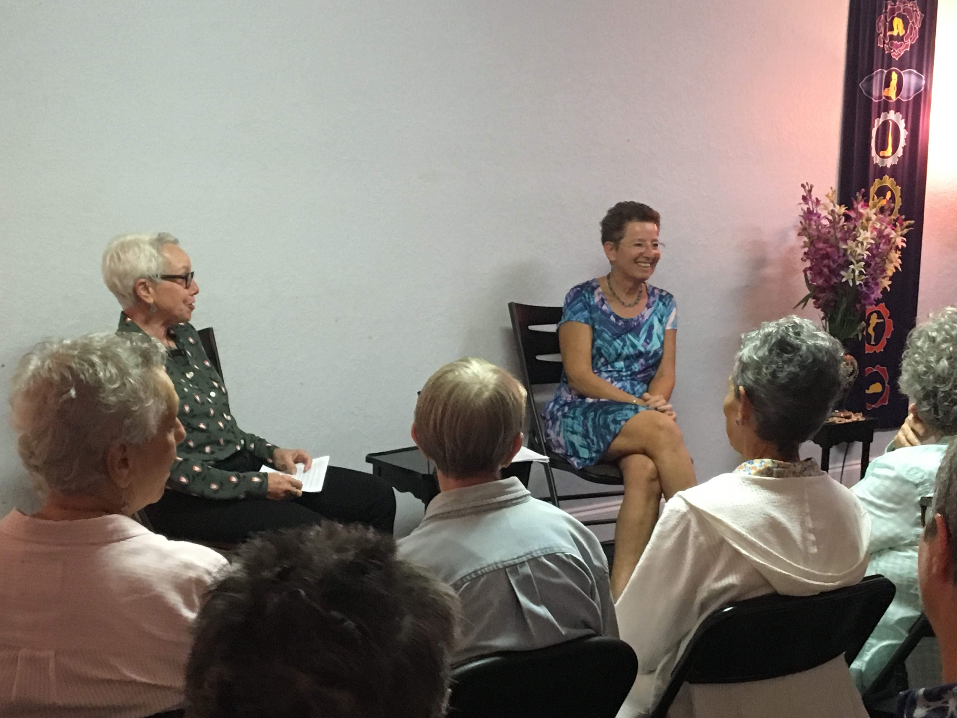 Alison Solomon and Phyllis Plotnick at book signing