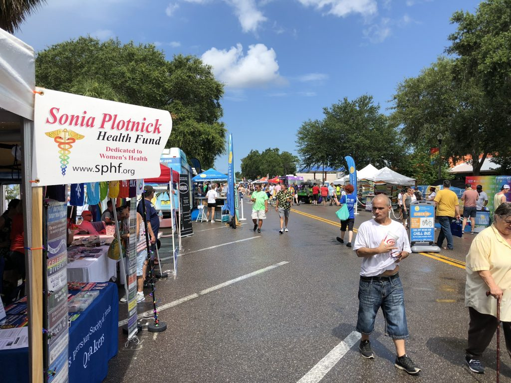 SPHF booth at St. Pete pride