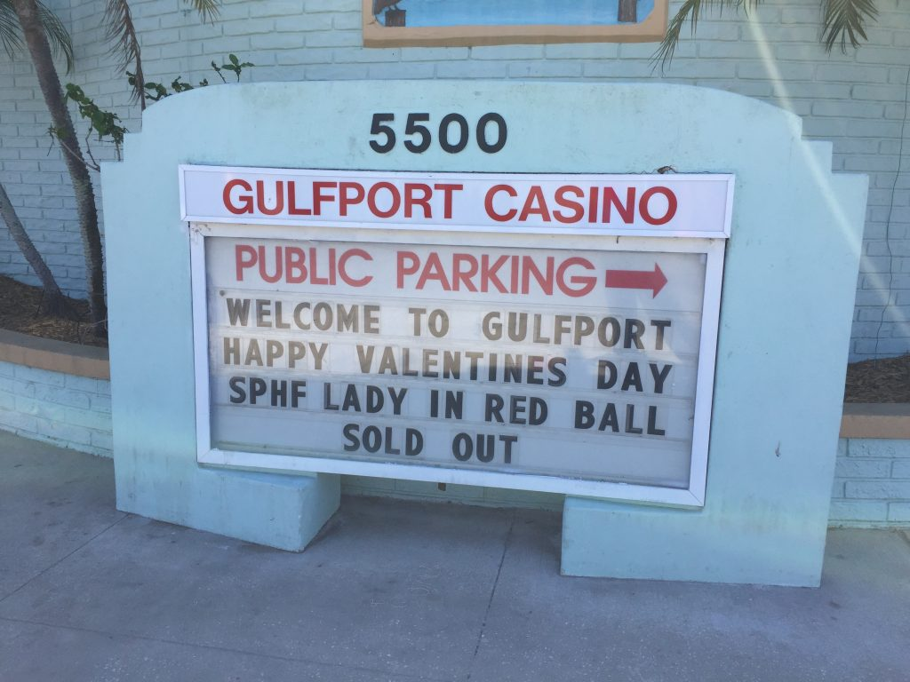 sold out sign at gulfport casino