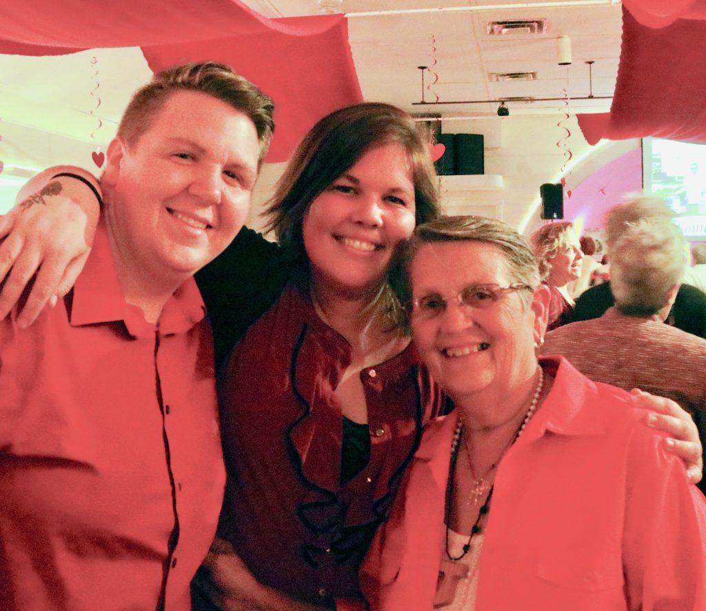photo of 3 women