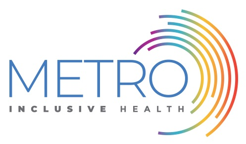 A logo for Metro Inclusive Health
