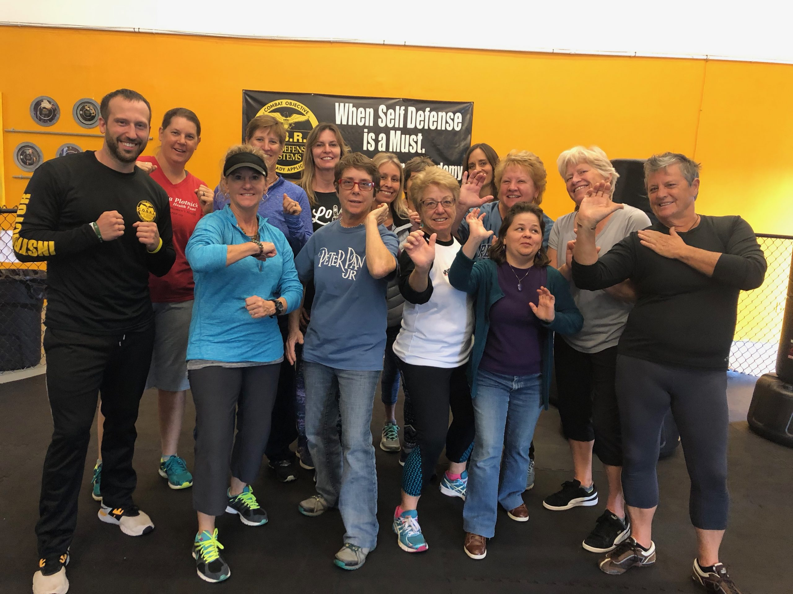 women with self defense instructor